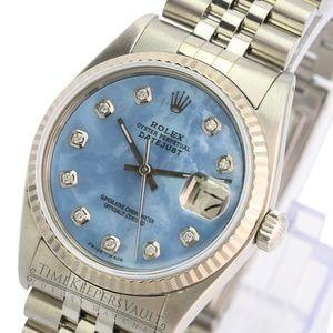 Rolex Datejust Blue MOP Diamond Dial 36mm Watch